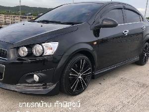 รถบ้านเจ้าของใช้เองมือเดียว ไมล์แท้38,000 กิโลเมตร Chevrolet Sonic1.4 ตัวท๊อป สีดำ ปี2013 เกียร์Auto