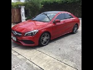 ขายถูก Benz CLA 250 AMG 2.0 ปี 17 สภาพใหม่มาก สีแดงสด เกียร์ออโต้ เลขไมล์น้อย
